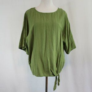 Time and Tru Side Tie Top Relaxed Fit Women's S